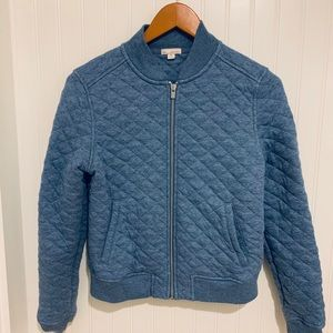 Gap chambray quilted sweatshirt Jacket M